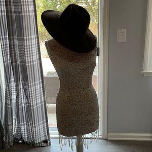 H & M brown felt hat